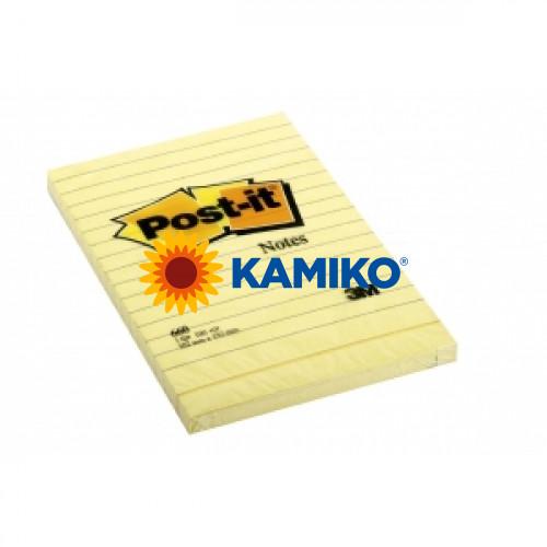 Samolepiaci bloček Post-it Super Sticky 102x152 žltý linajky