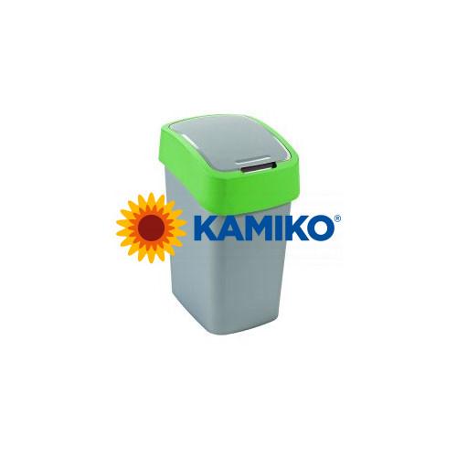 Curver odpadkový kôš Flipbin 10l strieborná/zelená