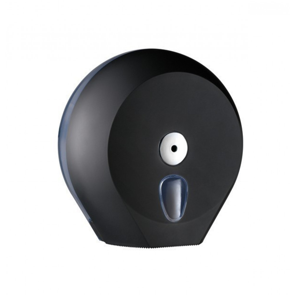 Zásobník toaletného papiera COLORED Jumbo 23 cm, čierny
