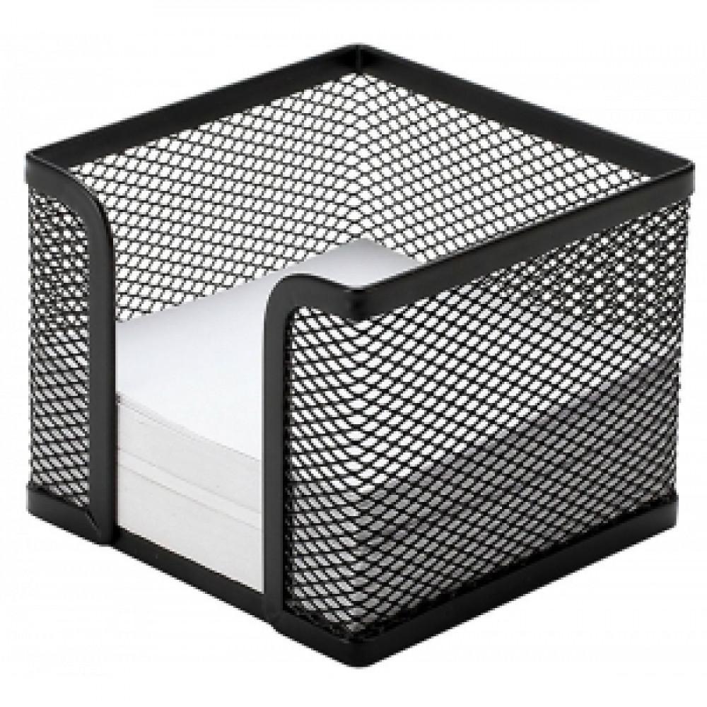 "Drôtený stojan na blok ""kocka"" čierny 95x80x95mm"