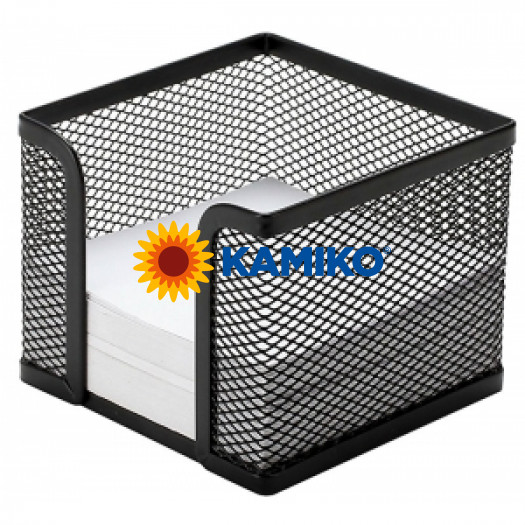 Drôtený stojan na blok kocka 95 x 80 x 95 mm čierny