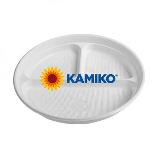 Plastový tanier delený na 3 porcie 22 cm (PP)