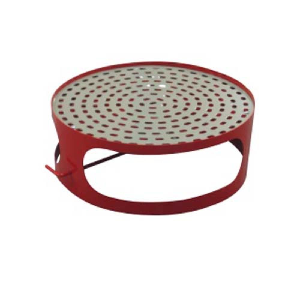 Veko koša s popolníkom pre betónový kôš 180 kg - lak červený