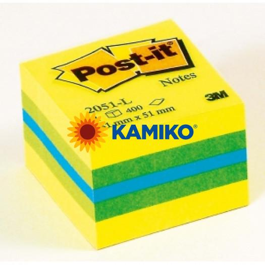 Samolepiaci bloček kocka Post-it 51x51 mini mix farieb