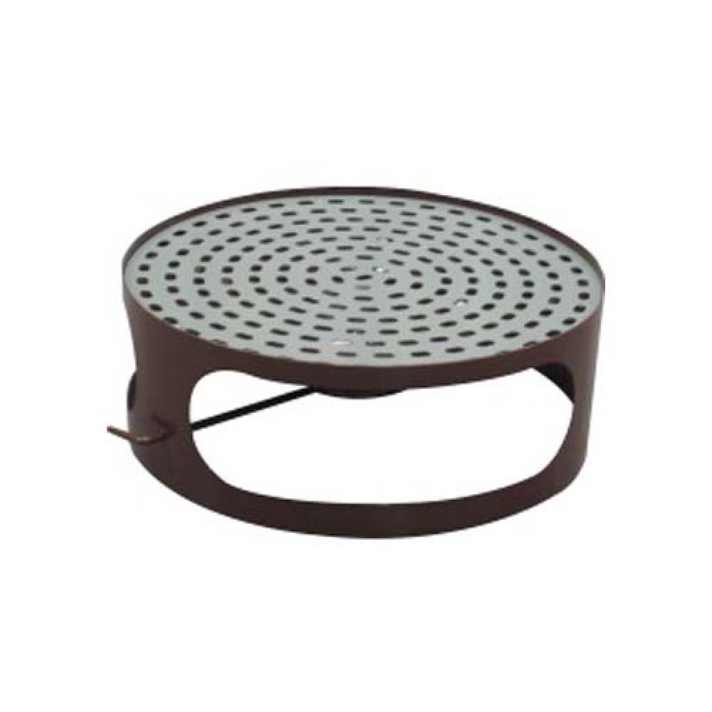 Veko koša s popolníkom pre betónový kôš 180 kg - lak hnedý