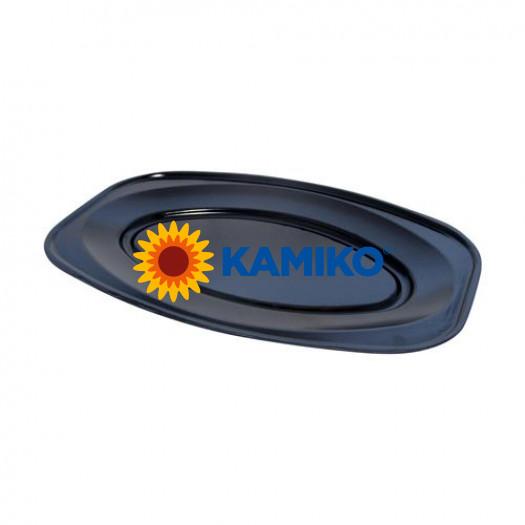 Podnos oválny čierny 45 x 30,5 cm (EPS)