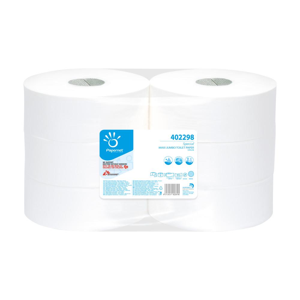 Toaletný papier 2vr Jumbo PAPERNET 26 cm, biela celulóza