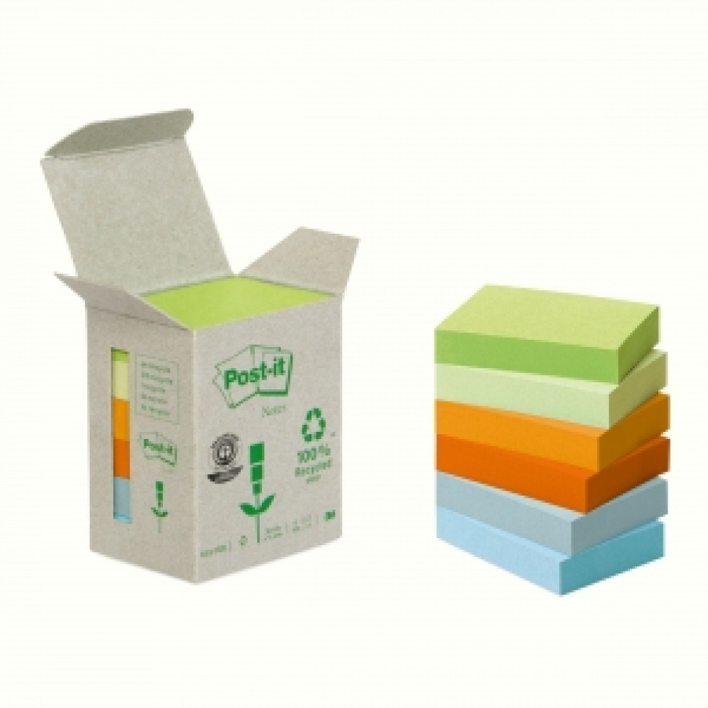6x653 Samolepiaci bloček Post-it recyklovaný 38x51 dúhový