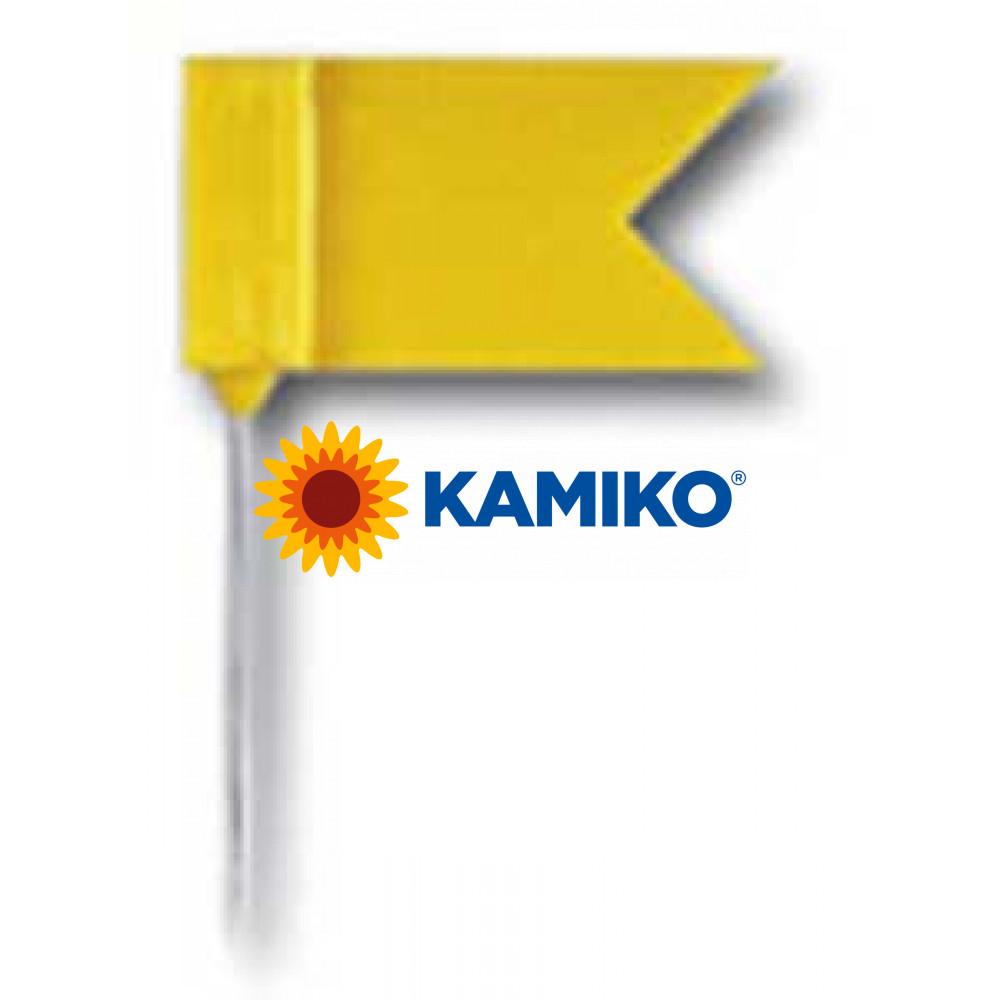 Špendlíky zástavky žlté 25 ks