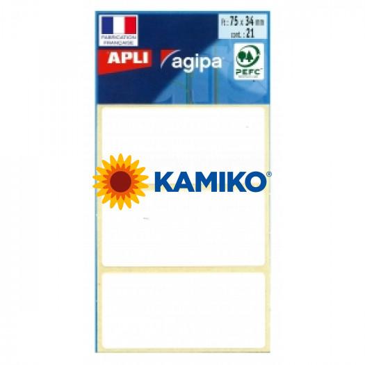 Etikety Agipa , 34x75 mm