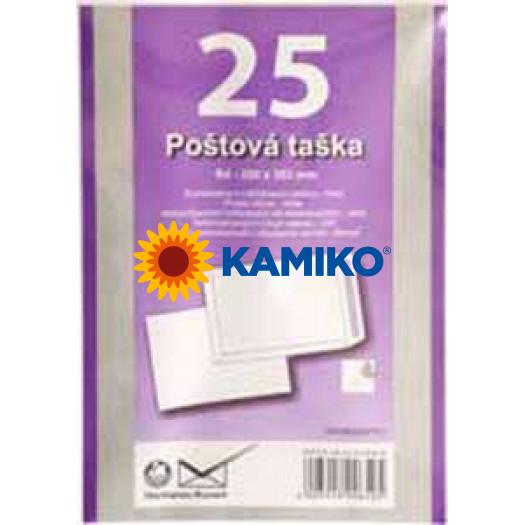 Poštové obálky B4 s páskou, biele, 25ks