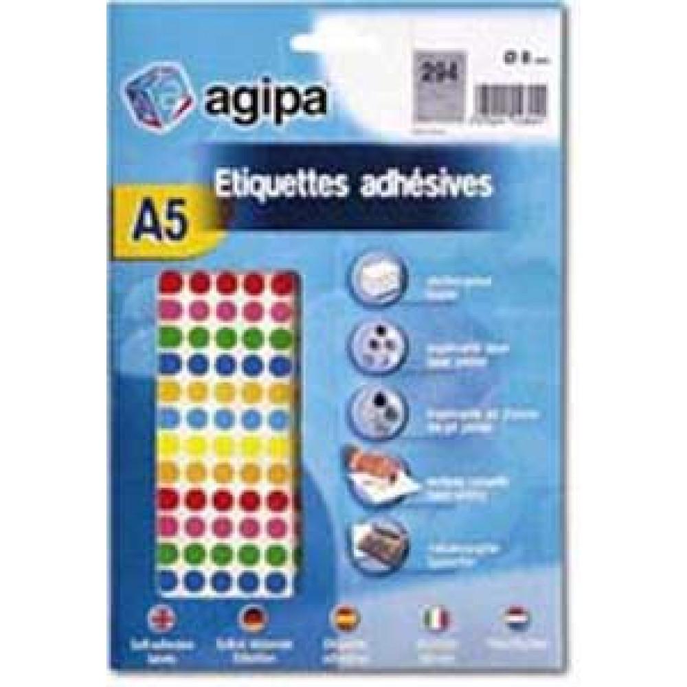 Etikety A5 8 mm mix 7 farieb