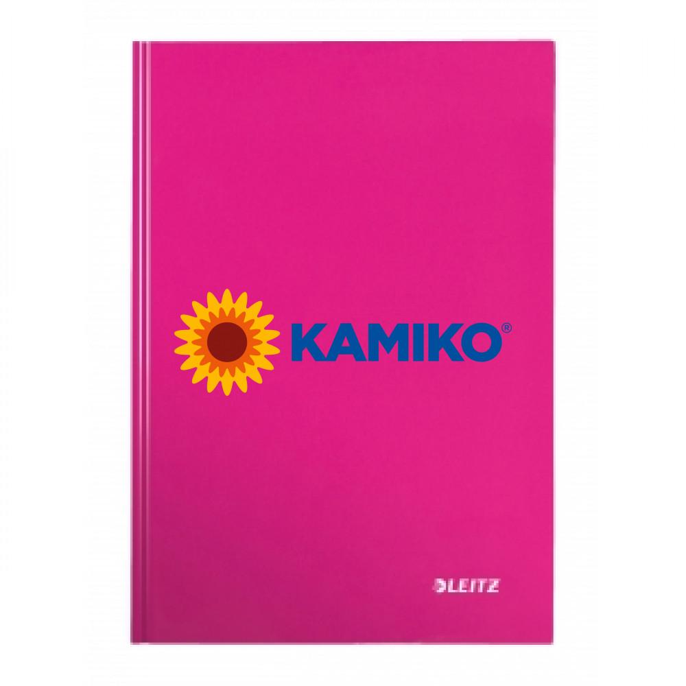 Záznamová kniha linajkovaná A4 80 listov Leitz WOW ružová