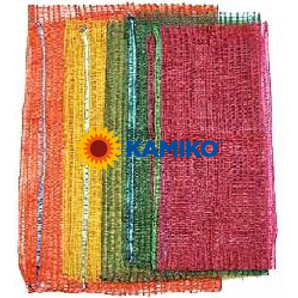 Pletené vrece 33 x 47 cm, nosnosť 5 kg, farebný mix