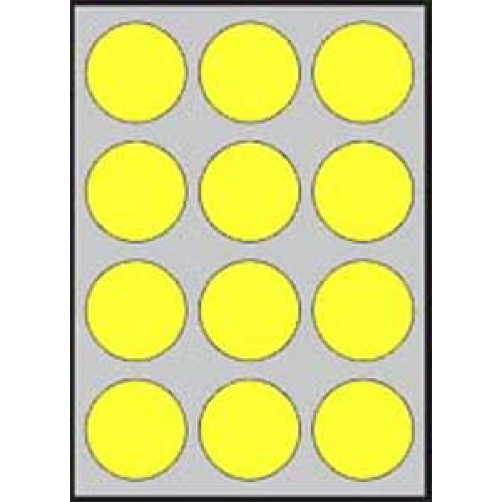 Etikety laser fluo.žlté d60
