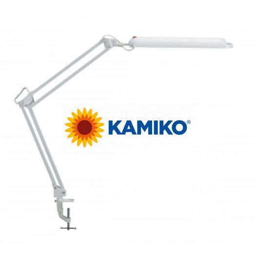 Energeticky úsporná stol. lampa MAULatlantic s úchytom biela