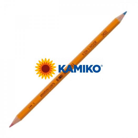Ceruzka Koh-i-noor 3433 červeno/modrá 12 ks