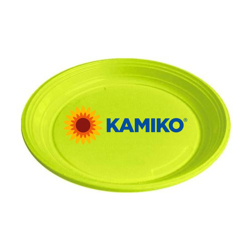 Plastový tanier žlto-zelený 22 cm (PS)