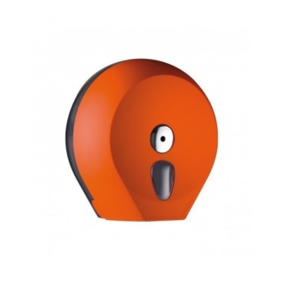 Zásobník toaletného papiera COLORED Jumbo 28 cm, oranžový