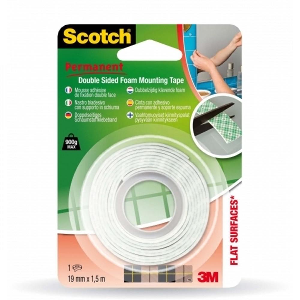 Montážna páska SCOTCH 33 penová biela 19 mm x 1,5 m