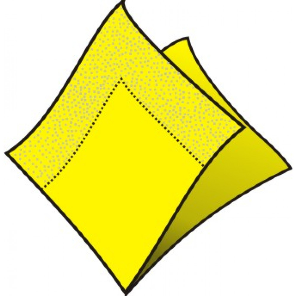 Servítky 33 x 33 cm, 2 vrstvy, žlté