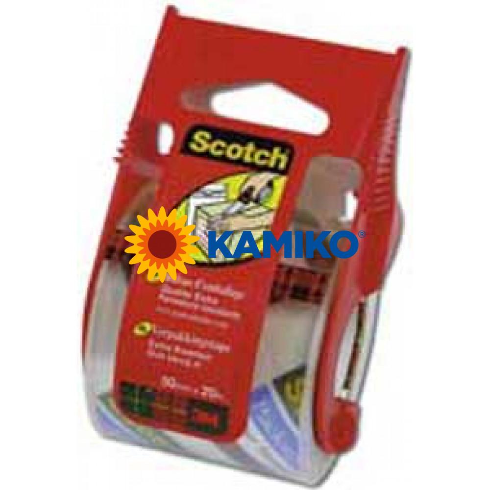 Baliaca páska Scotch priehľadná s dispenzorom 50mm x 20m