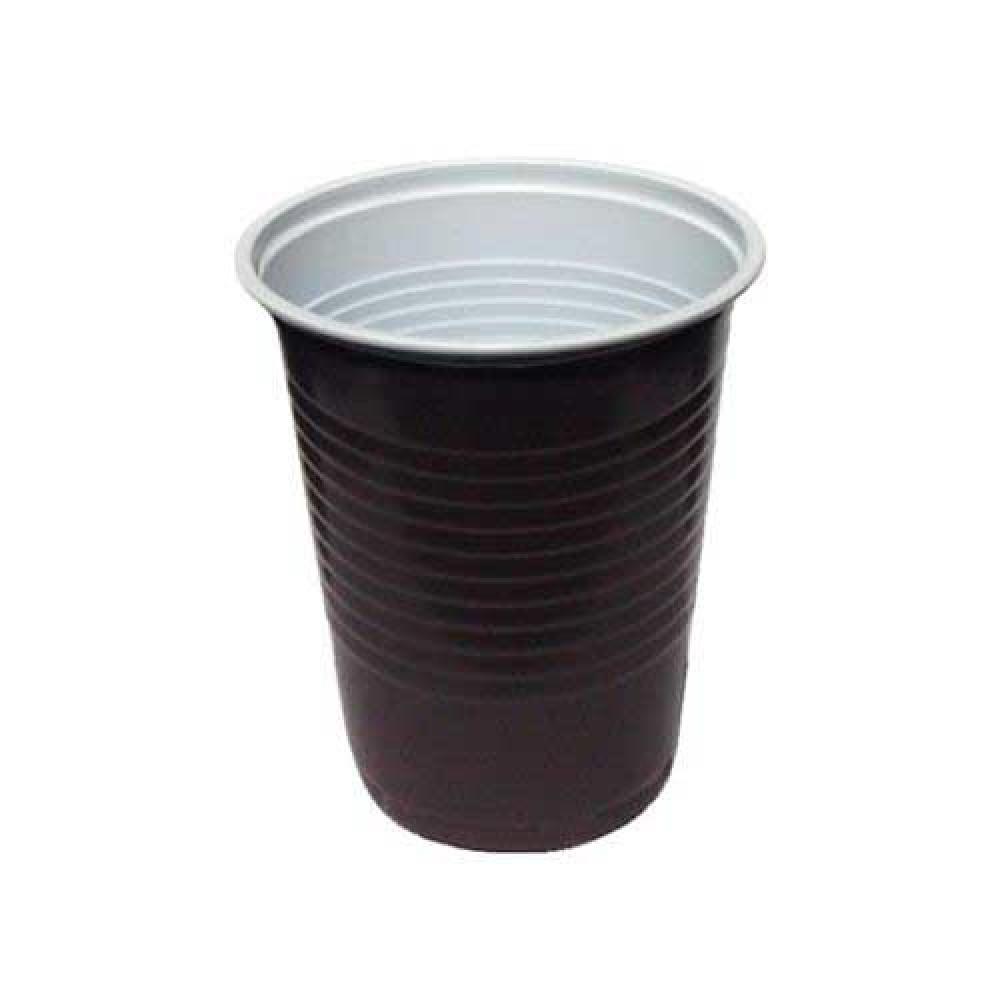Kávový pohár hnedo-biely PP 0,18 l