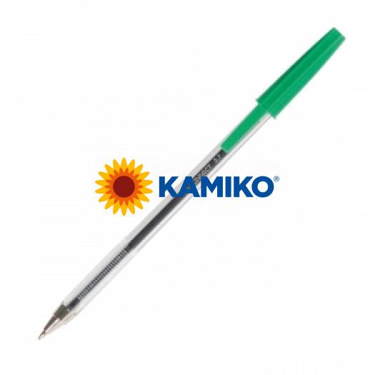 Jednorázové guličkové pero Q-CONNECT M zelené