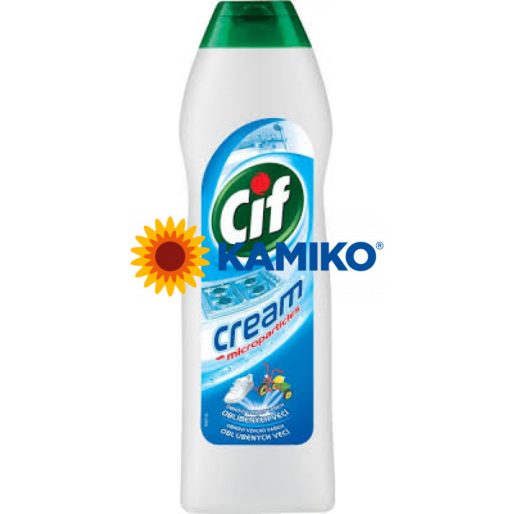 CIF Cream tekutý prášok 720g, biely