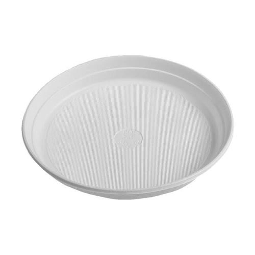 Plastový tanier biely 22 cm (PP)