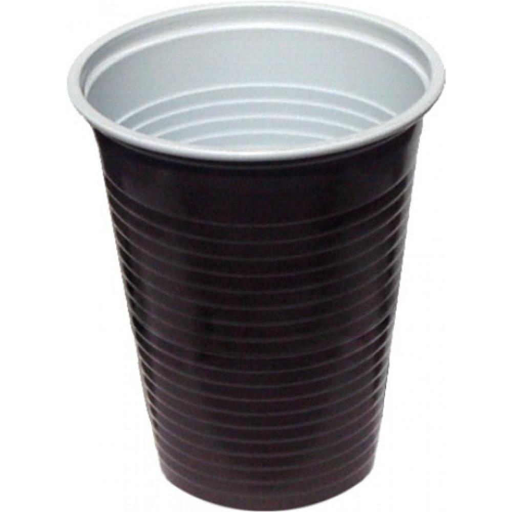 Kávový pohár hnedo-biely PP 0,2 l