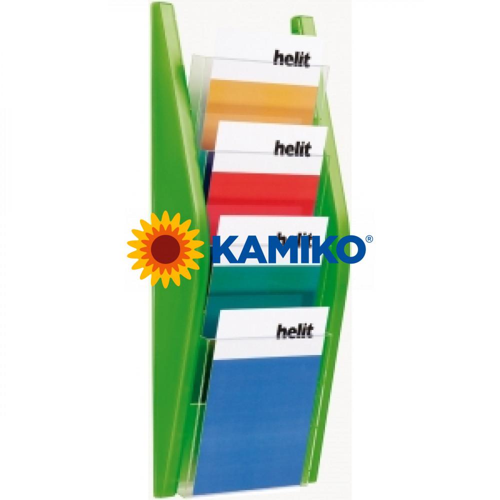Prezentačný stojan Helit 4 x A5 zelený