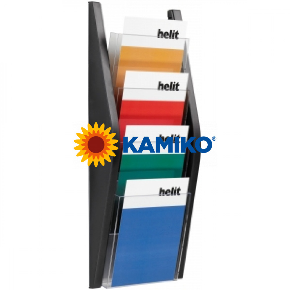 Prezentačný stojan Helit 4 x A5 čierny