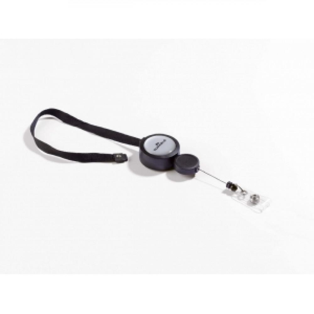Vysúvací kotúč PLUS s čiernym remienkom 10 ks