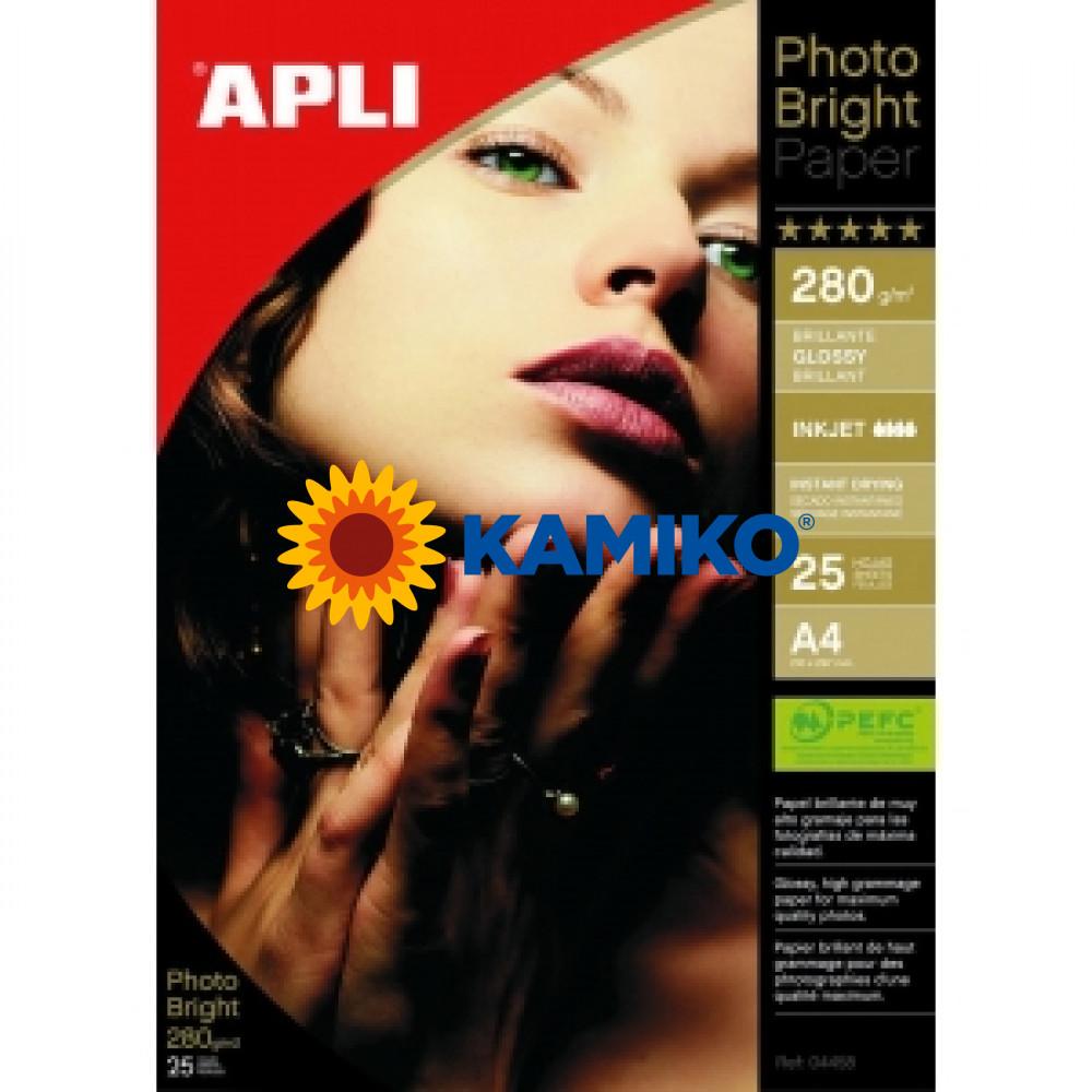 Fotopapier APLI A4  Bright 280 g, 25 hárkov
