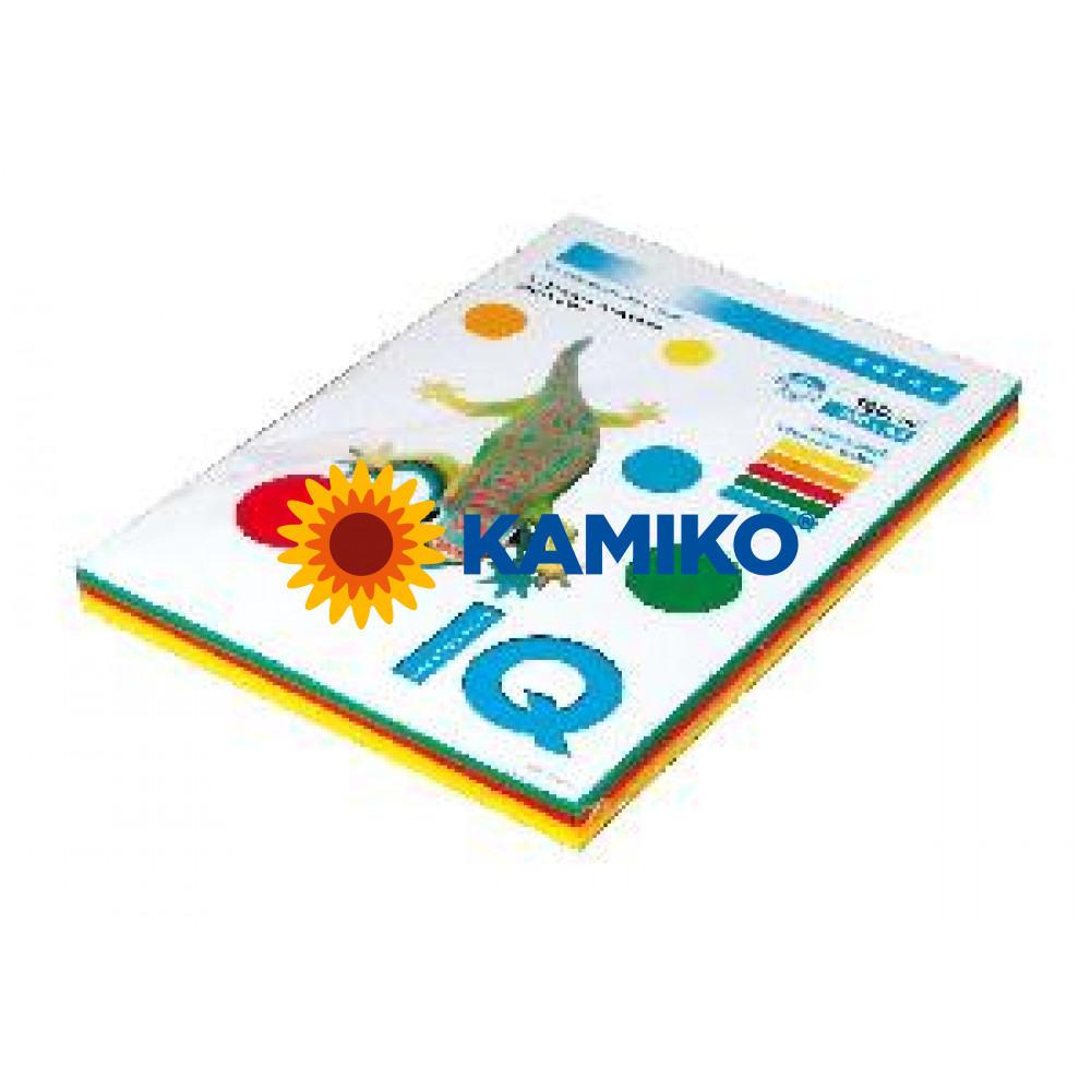 Kopírovací papier 160g A4 IQ color 5x20 mix intenzívne farby