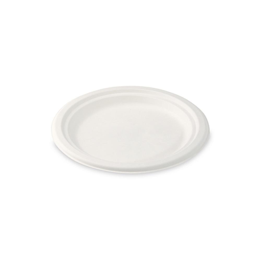 Tanier okrúhly BIO cukrová trstina Ø 17,5 cm, 50 ks/balenie