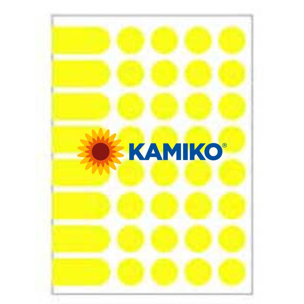 Agipa Etikety kruhové pr. 24 mm žlté, 10 hárkov
