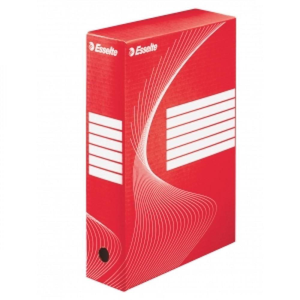 box 80mm Esselte červená/biela