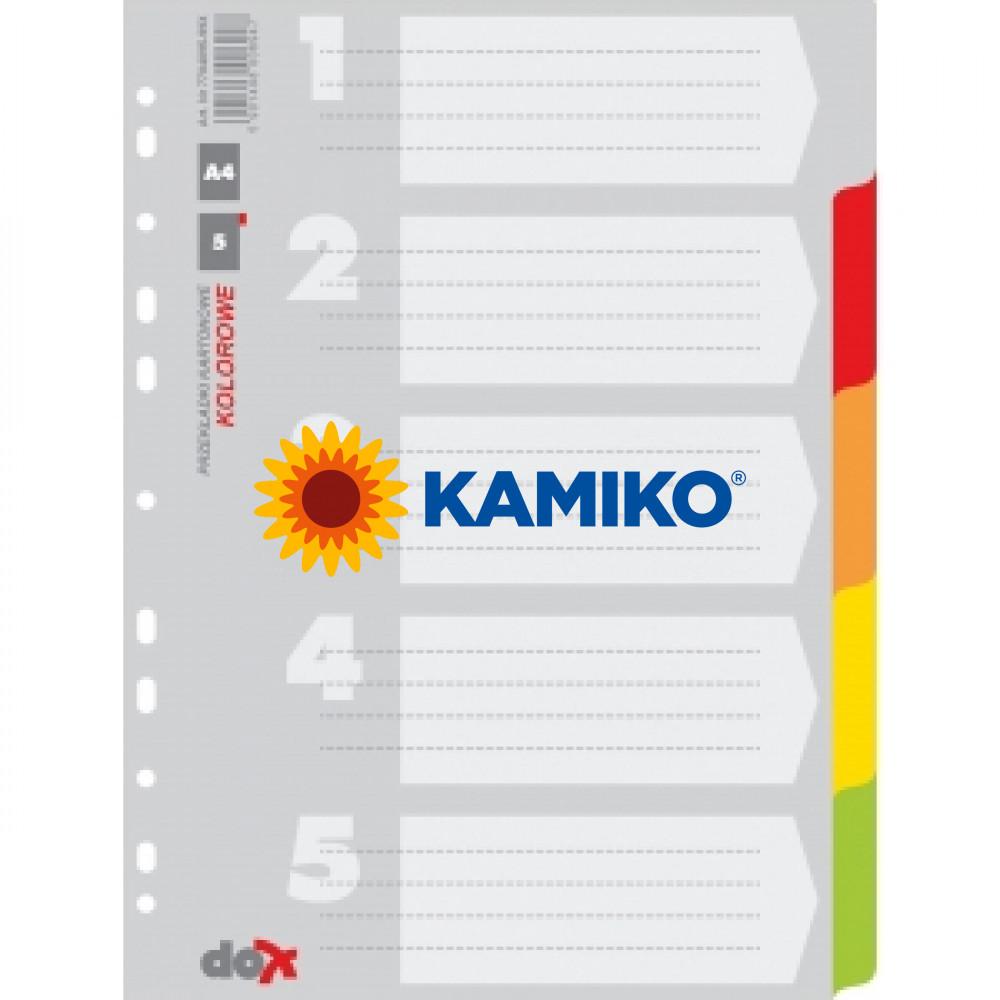 Kartónový rozraďovač farebný 5-dielny (7704095-99X)