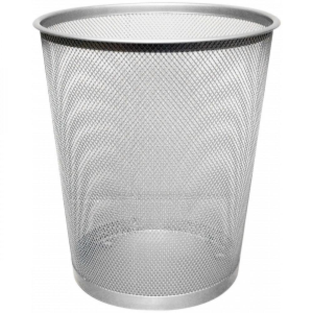 Drôtený odpadkový kôš 19 litrov strieborný