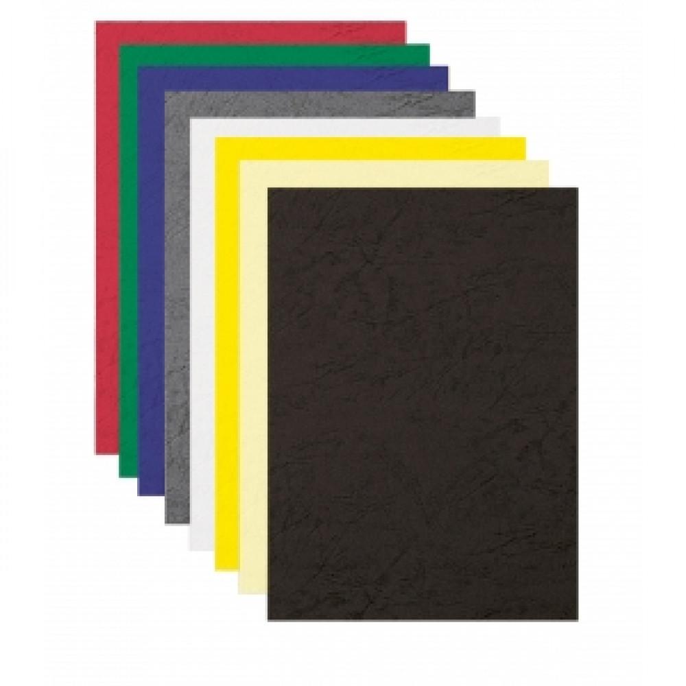 Kartónové obálky Delta koža A4 biele