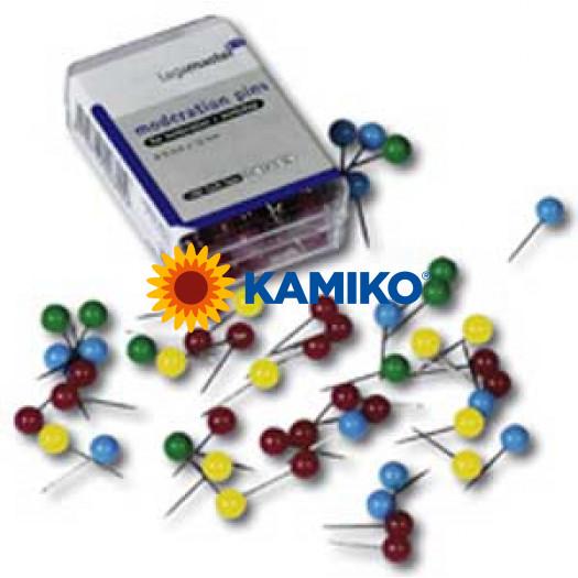 Guľaté špendlíky 6 mm x 15 mm200 ks mix