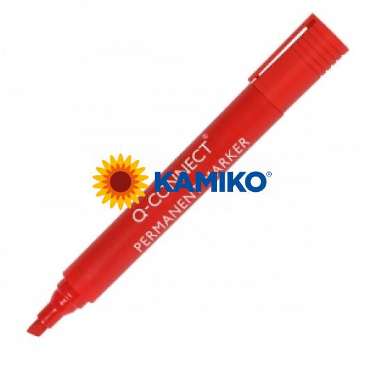 Permanentný popisovač 1,5-3mm zrezaný hrot Q-CONNECT červený