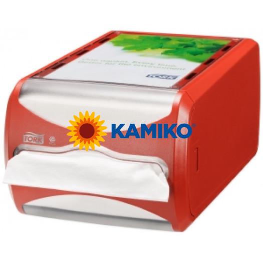 Zásobník servítok TORK XPR pultový červený