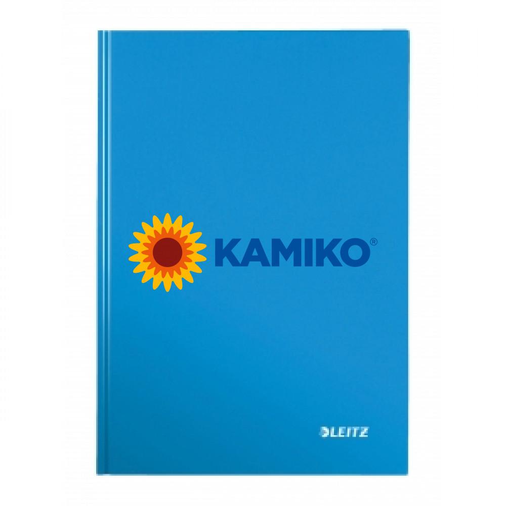 Záznamová kniha linajkovaná A4 80 listov Leitz WOW modrá