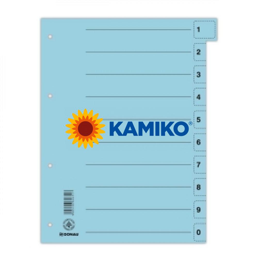 Kartónový rozraďovač odtrhávací modrý