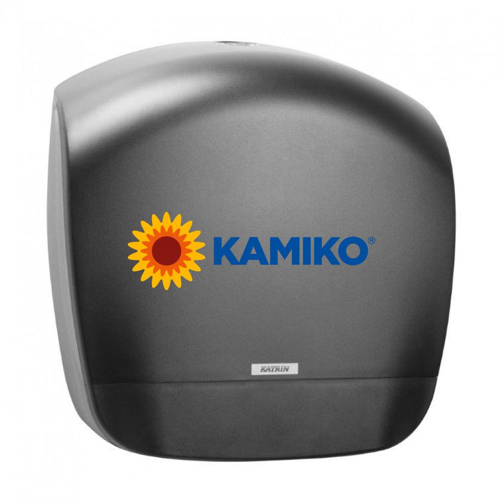 Zásobník toaletného papiera KATRIN Jumbo 19 cm, čierny