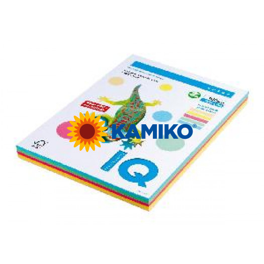 Kopírovací papier 160g A4 IQ color 5x20 mix pastelové farby