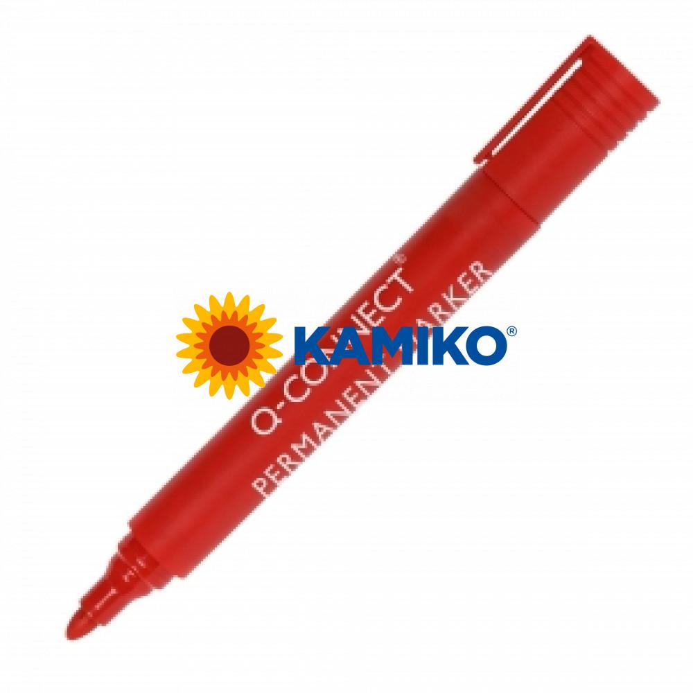 Permanentný popisovač 1,5-3mm Q-CONNECT červený